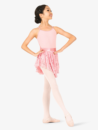 Girls Sequin Lace Pull-On Ballet Skirt - Style No PB2036C