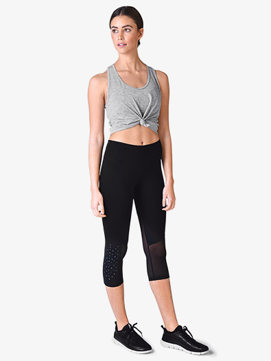 Womens Laser Cut Workout Leggings - Style No PDP6179x