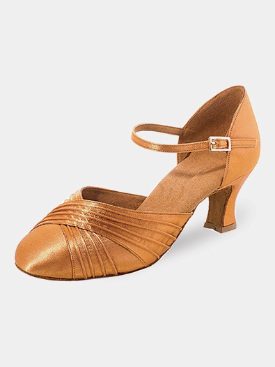 Womens Pleated Toe Ballroom Dance Shoes - Style No R346