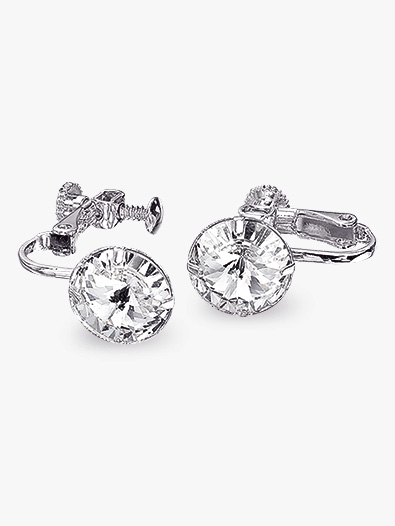 10mm Solitaire Clip-On Earrings - Style No REC10