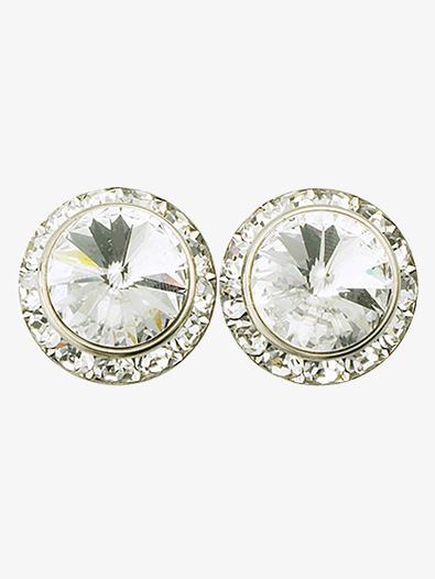 15mm Clip-On Earrings with Swarovski Crystals - Style No RU058