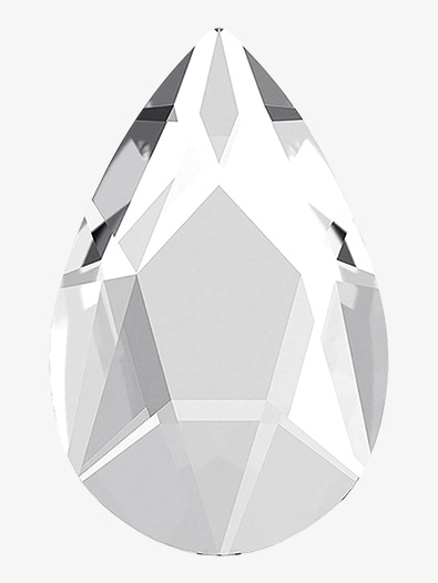 Swarovski Crystal Jewel Cut Pear Flatback - Style No RU069x