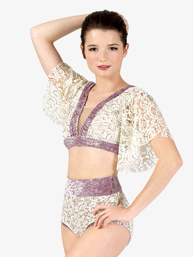 Womens Performance Lace and Velvet 2-Piece Lyrical Set - Style No RV344A
