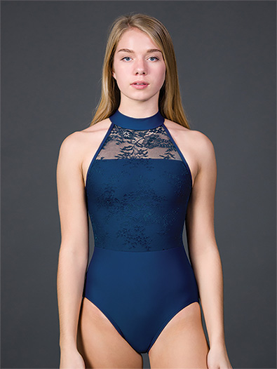 Adult Silver Shadow High Neck Tank Leotard - Style No S2237
