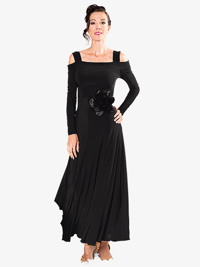 Womens 8-Panel Long Ballroom Dance Skirt - Style No S905