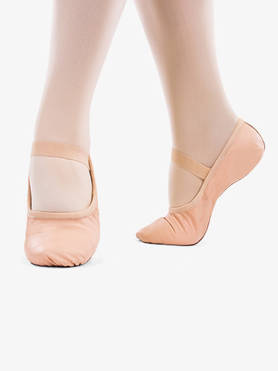 Girls ''Bella'' Premium Leather Full Sole Ballet Shoes - Style No SD69S