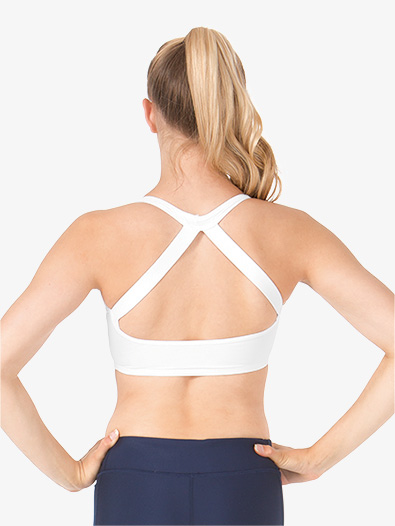 Womens Compression Double Strap Halter Bra Top - Style No SIL87192