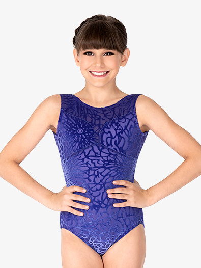 Girls Fantasia Burnout Velvet Tank Leotard - Style No SK017C