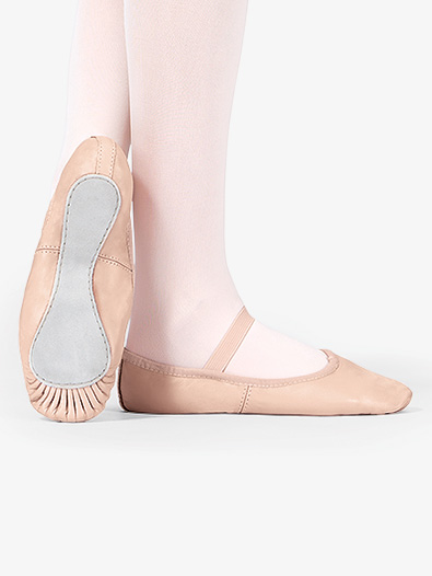 Child Premium Leather Full Sole Ballet Shoes - Style No T2000C