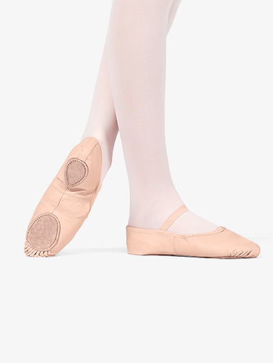 Adult Leather Split-Sole Ballet Shoes - Style No T2700