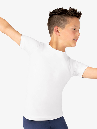 Boys Fitted Short Sleeve Dance Tee - Style No TH5133C
