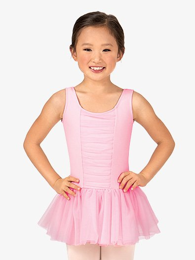 Girls Shirred Tank Dress - Style No TH5523C