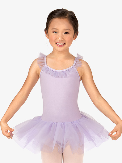 Girls Ruffle Neck Camisole Tutu Ballet Dress - Style No TH5530C