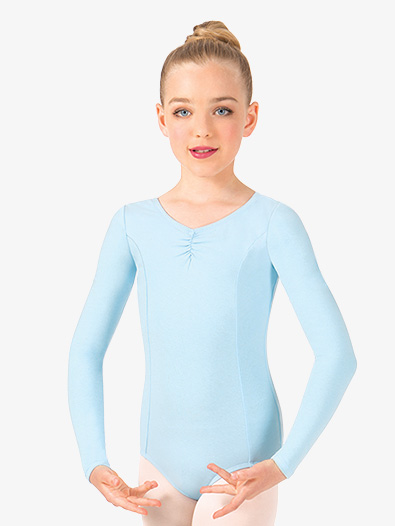 Girls Pinch Front Long Sleeve Leotard - Style No TH5534Cx