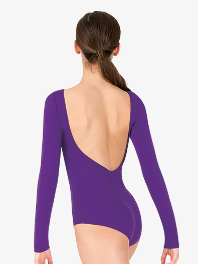 Womens V-Back Long Sleeve Leotard - Style No TH5560