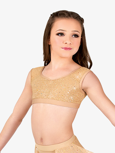 Girls Performance Twinkle Mesh Tank Bra Top - Style No TW301x
