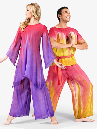 Adult Unisex Hand Painted Worship Palazzo Pants - Style No WC100