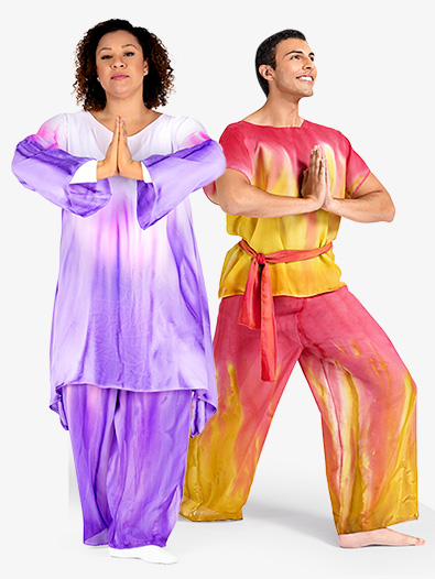 Adult Unisex Plus Size Hand Painted Worship Palazzo Pants - Style No WC100P