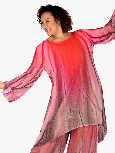 Women's Hand Painted Worship Long Sleeve Tunic - Style No WC101