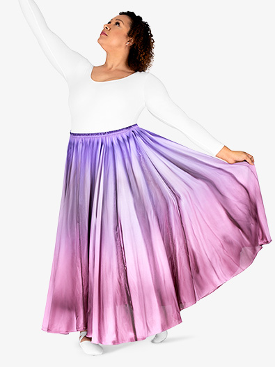 Women's Hand Painted Worship Long Skirt - Style No WC105
