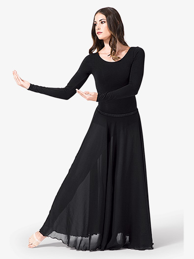 Women's Solid Worship Long Skirt - Style No WC105WBx