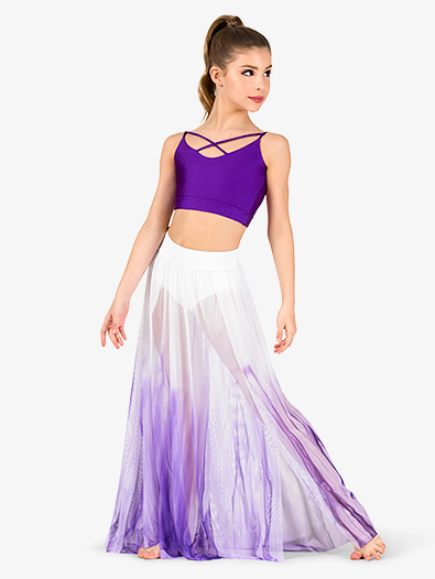 Girls Hand Painted Long Lyrical Skirt - Style No WC7240C