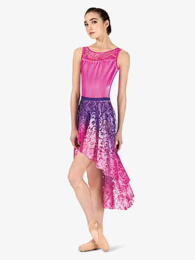 Womens Hand Painted High-Low Lyrical Skirt - Style No WC7262