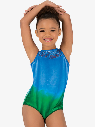 Girls Hand Painted Boat Neck Tank Leotard - Style No WC7264C
