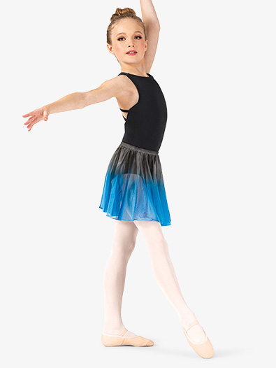 Girls Hand Painted Pull-On Ballet Skirt - Style No WC777C