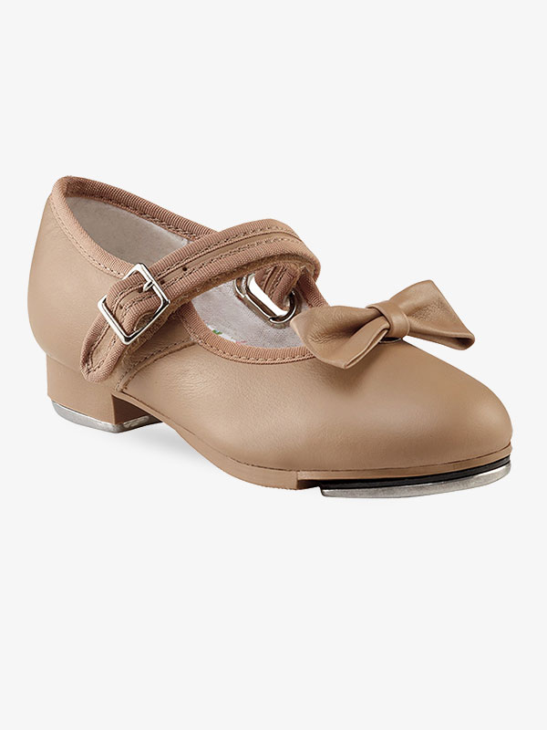 HIPPOSEUS Girls Tap Dance Shoe for Beginner Mary//Jane Dancing Shoes for Tap Danceing with Bow 208