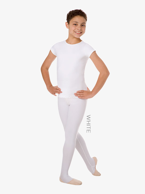 Boys Convertible Dance Tights - Child Footed Tights | Body Wrappers B90 |  DiscountDance.com