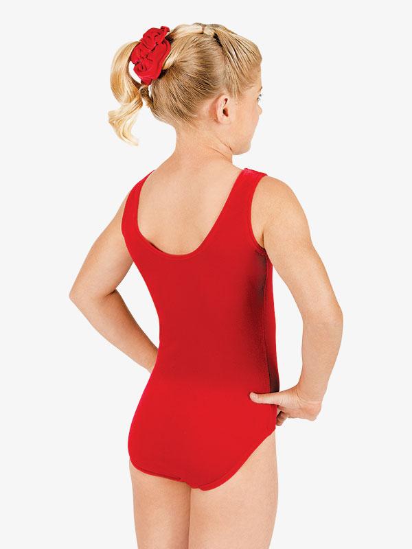 Velvet tank CE gymnastics dance aerobics leotard /& scrunchie COLOUR CHOICE