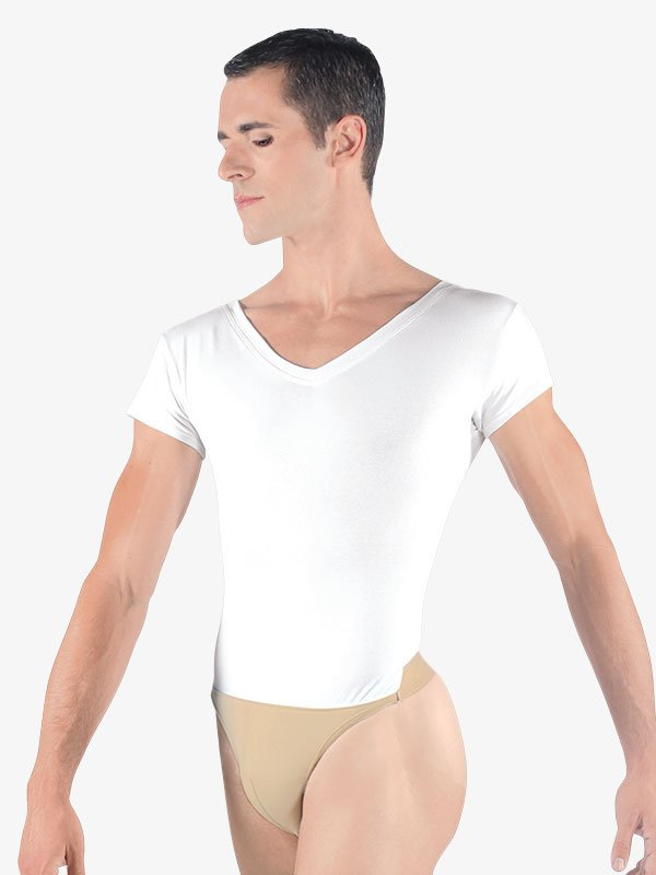 MensIvan V-Neck Leotard with Built-In Dance Belt WM125