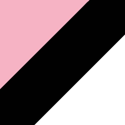 Light Pink/Black/White