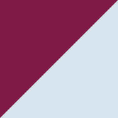 Burgundy/Light Blue